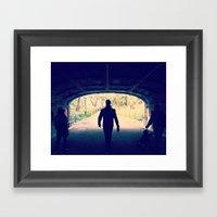 Under The Bridge Framed Art Print