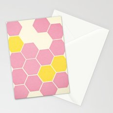 Pink Honeycomb Stationery Cards