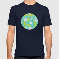 Hibiscus Mens Fitted Tee Navy SMALL