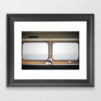 ferry. Framed Art Print
