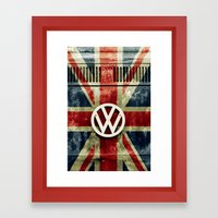 VW Retro Union Jack Framed Art Print
