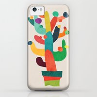 iPhone 5c Cases featuring Whimsical Cactus by Budi Kwan