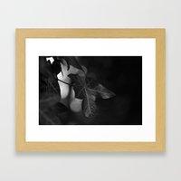 One Colour Leaf Framed Art Print