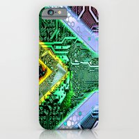 iPhone & iPod Case featuring circuit board South Africa (Flag) by seb mcnulty
