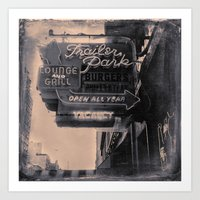 Trailer Park Lounge Art Print