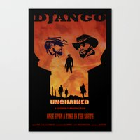 Django Unchained Alternate Movie Poster Canvas Print