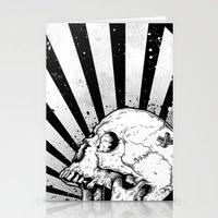 Kamikaze Skull Stationery Cards