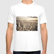 New York From Above Mens Fitted Tee White SMALL