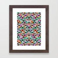 Aztec Geometric Reflection I Framed Art Print