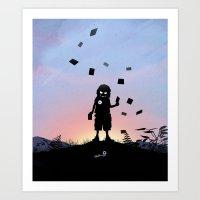 Joker Kid Art Print