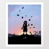 Joker Kid Art Print