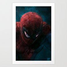 Spider-Man painting Art Print
