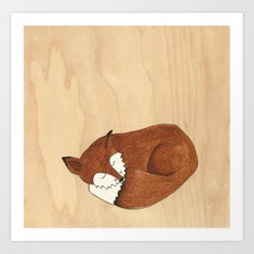 Slumbering Mr Fox Art Print