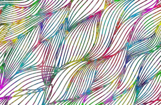 Trace Paint Abstract Art Print