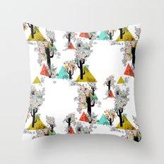 Tree Triangles Throw Pillow
