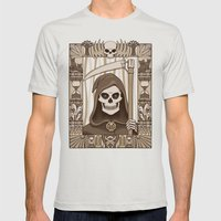 COWER BRIEF MORTALS Mens Fitted Tee Silver SMALL