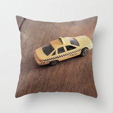 mini cab Throw Pillow