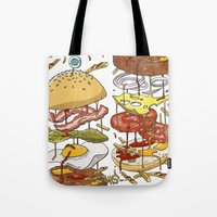 Burger Tote Bag