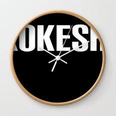 KOKESHI FONT WHITE Wall Clock
