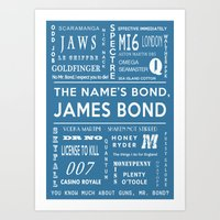 Bond Blue Art Print