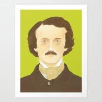 Poe-faced Art Print