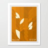 Yellow Stamp Canvas Print