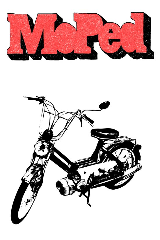 Moped Art Print