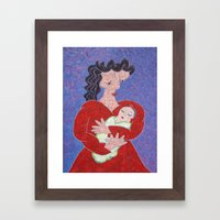 Mother and Baby Framed Art Print