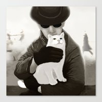 Cat And Alien Canvas Print