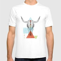COW GEO Mens Fitted Tee White SMALL