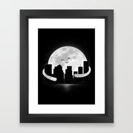 Framed Art Print featuring Goodnight by Carbine