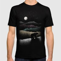 Wandering Bear Mens Fitted Tee Black SMALL
