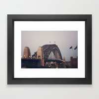 Sydney Harbour Bridge Framed Art Print