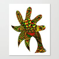 Finger Palm Tree Canvas Print