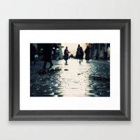 Shopping Framed Art Print
