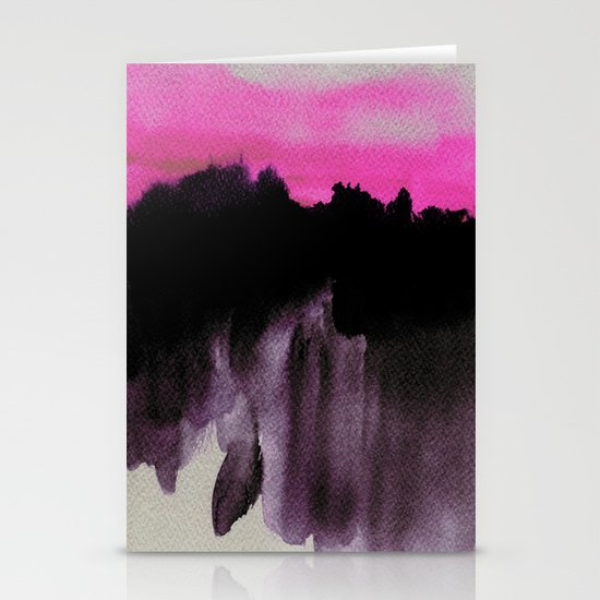 Deconstructed Horizon Stationery Card
