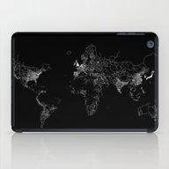 World Map Lines iPad Case