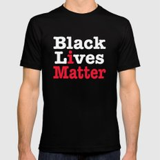 BLACK LIVES MATTER (inverse version) SMALL Mens Fitted Tee Black
