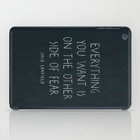 I. The other side of fear. iPad Case