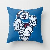 Marshmelin Man Throw Pillow