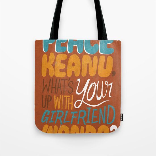 Peace Keanu Tote Bag