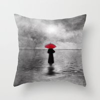 Waiting In The Sea II  -… Throw Pillow