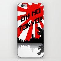 Godzilla - Oh No Tokyo iPhone & iPod Skin