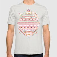 NATIVE BANDANA Mens Fitted Tee Silver SMALL