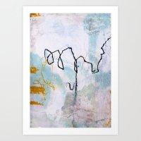 lines & texture 2 Art Print
