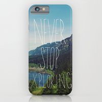 iPhone & iPod Case featuring Never Stop Exploring by Leah Flores