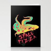 Space Pizza Stationery Cards