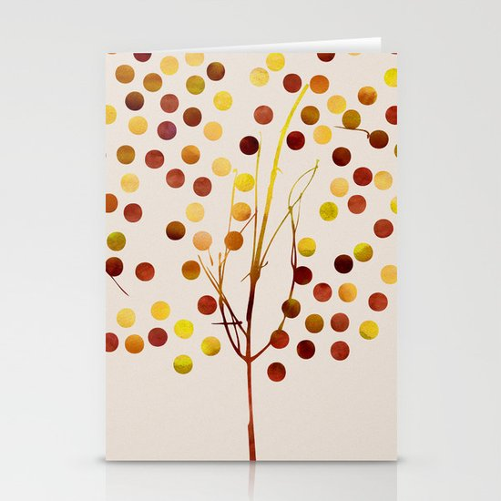 Tree of Life_Amber by Jacqueline and Garima Stationery Card