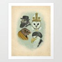 Birds Of Pray Art Print