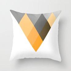 Landscape in Orange Throw Pillow